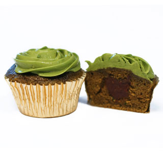 cupcake green tea red bean