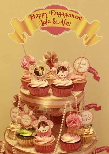 cupcake untuk hantaran pertunangan