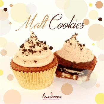 Malt Cookies Cupcake Lunetta Enak